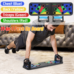 11-in-1 Training Push Up Board Bring the gym home with this comprehensive colour coded system up's trainer Train strengthen strength Storage standup stands standing stand Sit-up sit Removable Pushup Push Up push muscles muscle Home gyms gymgear gym gear fitness Equipment boards board bags bag abs Abdominal