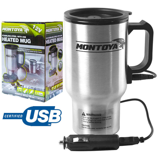 12v Stainless Steel Heated Mug