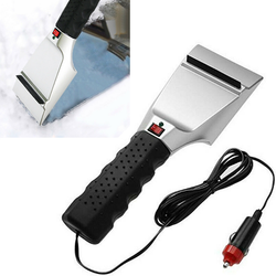 12V Heated Car Ice Scraper a life saver on winter mornings plug into your 12v car cigarette lighter socket effective at removing thick ice and heavy snow winter windscreens Windscreen Snowing Shovels Shovel Scraper Removal Lighter Ice frosty Frost Electric defroster's Defroster cold cars caravans caravan