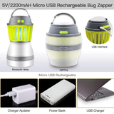 2-in-1 Mosquito Killer Camping Lantern Keep the midges at bay This ingenious lamp perfect solution outdoor lighting zaps Zappers Zapper USB travel trapping trap's Trap Catchers trap summer solution repellent pests pest repeller pest killer pest control outdoors outdoor mosquitos mosquitoes Mosquito midges lighting Lantern's Lantern lamps lamp kills Killers
