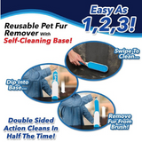 Hair Removal Brush Designed to effectively remove pet fur and lint, double-sided travel sized sofa self cleaning removers remover removals Removal pet's pet owner lint hairs Hairbrush hair remover hair removal fur economical dogs dog clothes cleaning cleaners Cleaner clean cats cat car seats car seat brushing Brushes Brushed brush