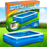 2m Rectangular Inflatable Pool Large 2 metre outdoor swimming pool Perfect for young families Spend the Summer having fun outside sunshine swimming pool swimming swimmer swim Rectangular poolside pools pool party pool Paddling paddle metre kid's kid inflating inflatable holiday girls girl gift garden parties fun Children boys BBQ barbecues barbecue