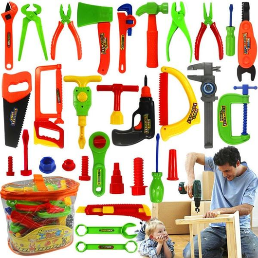 34pcs Kids' Repair Tools Set