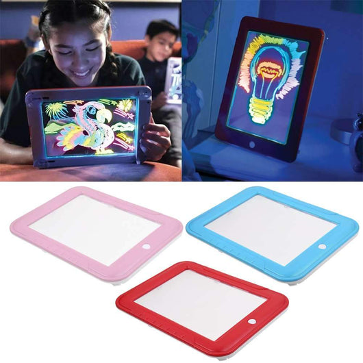 3D Magic Glowing Drawing Board Get your kids' creativity flowing with this Perfect for drawing handwriting doodles writing write toys toy Puzzles Pads Pad Magic kid's kid glowing Glow girls girl educational toys toy drawing draw Doodle DomoSecret colours Colouring colourful Coloured Colour childs childrens Children child boys boy boards board 3D