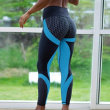 Blue 3D Print Yoga Sport Leggings Contoured Making active wear fashionable yoga work out work hard work Sportswear sports sport runs running runners run Relief Sports Performance lightweight legs Leggings jogging jog hard gym flexible flexibility flex fashionable contour comfortable breathable