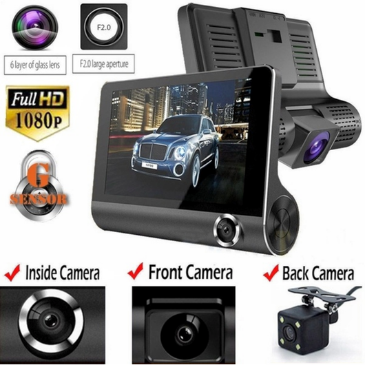 3 Lens HD Car Dash Camera