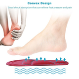 4D Sponge Insoles Give your feet a treat Helps your feet distribute weight more evenly foot arch provides extra padding walking toes supports supportive support soles shoes shoe pads padded high heels heel health gels gel foot feet cut comfortable comfort circulation boots boot arch absorbing absorb