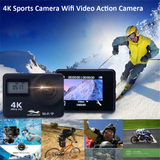 4K Sport Action Camera with Remote Control Capture every adventure with this Ultra 4K WIFI with WIFI waterproof water resistant videos video vid unit travel sporty sports Remote-Controlled remote control photos Photography photograph photo out Motion HD GOPRO extreme sports DIVE control compact climbing climb Cameras boys biking adventures