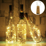 4 Pack of Bottle Stopper String Lights Convert any bottle into a table showpiece festive decorations with white christmas warm tables Table strings string Stoppers stopper santa packs magical lighting light leds LED lights house festive enchanting dinner dining decs Decors decoration Decor customised create bottles bottled 4-pack