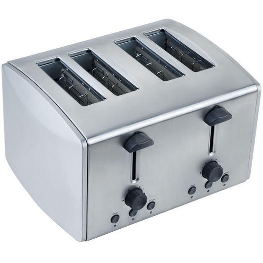 Brushed Stainless Steel 4-Slice Toaster