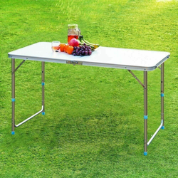 4ft Folding Utility Table Heavy Duty Multi Purpose Durable, smooth & easy to keep clean surface tables table Portable Plastic party parties Heavy-Duty Heavy gardens garden parties folds flat Folding Table Folding Foldable Fold-Flat fold Duty Catering caravans caravan camps camping Camper camp