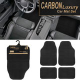 4pcs Carbon Luxury Car Mats Set Get a set of universal car mats made from 100% textured rubber to aid slip resistance Two fronts and two rear sets Set of 4 rubber Mats mat Luxury In-Car carseat cars Carbon caravans caravan car seats car seat car repair car park car organiser car accessories Car 4Pc 4