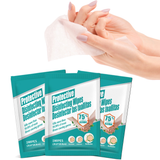 50 Travel Pack Anti-Bacterial Alcohol Wipes disinfectant hand wipes which kill 99.99% of illness causing germs Large wipes 18cm x 20cm wipe viruses virus travelling traveling Traveler travel Sachets packs illness fifty disinfection disinfecting disinfectants disinfect covid19 covid-19 covid coronavirus corona antibacterial anti-virus anti bacterial 50-pack 50
