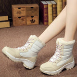 white Women's Ankle Warm Boots feet warm and dry winter weather water resistant waterproof comfortable secure fit around the calf heavy duty rubber soles womens women womans woman winter warmth warm snow shoes outdoors outdoor mums mum mother Lady ladies girlfriend girl's girl gifts gift feet fashions fashionable fashion Ankles