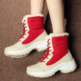 red Women's Ankle Warm Boots feet warm and dry winter weather water resistant waterproof comfortable secure fit around the calf heavy duty rubber soles womens women womans woman winter warmth warm snow shoes outdoors outdoor mums mum mother Lady ladies girlfriend girl's girl gifts gift feet fashions fashionable fashion Ankles