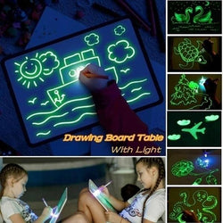 Kids Glowing Magical Painting Board Children get creative pen, stencils draws with light make pieces of art creative writing toys toy paints painting paint magic lights light-up kid hobby craft glows Glow girls girl gift drawing draw crafts crafting craft cosmic childs childrens Children child boys boy boards arts art