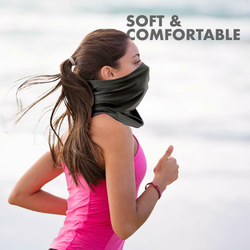 6-Pack Face Coverings Multifunctional Snoods Keeps your neck warm and can be lifted over your face as a covering when entering shops tubes tube Snood Scarves Scarfs scarf packs pack neck multi-purpose multi-functioning multi-functional multi-function Multi Headwear gift faces coverup covers Covering cover bandanas Bandana