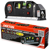 Dekton 6-in-1 Laser Level Measure Hang shelves & cabinets, tiles and picture frames Project horizontal, vertical spirit level Rulers ruler rule Professional Multipurpose multi-purpose METRIC Men's mens Men Measuring measures mans man LV-03 line level's level lazers lazer lasers imperial Home gift fathers father DIY dad's dad boys boy