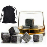 9pcs Whisky Rock Ice stones are ideal for drinking with high quality whiskey keep it at the perfect sipping temperature (50 degrees), wine Whisky whiskey stones stone Scotch Rocks rock Pouches Pouch ice Granite Drinkware drinks drinking drink cubes cube Cooling Cooler Cool beers beer alcohol