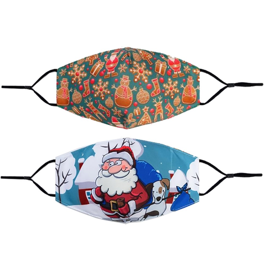 Adult Christmas Face Masks machine washable and reusable, these cotton face masks feature Christmas theme prints and are ideal for everyday use Xmas santa's Santa Claus Santa mask's gift Festive Father christmas covid19 covid-19 covid cotton coronavirus corona Christmas-Theme christmas tree christmas day and Adults 19 100% cotton