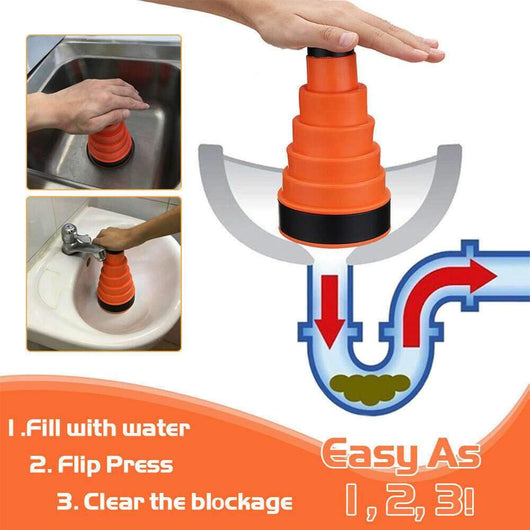 Anti-Clog Drainage Cannon Save on plumbing costs blast the blockage away! unblock tools Tool smell sinks sink Pressure powerful power plunger's Plunger plumbing plumb Manual kitchen sink house home improvements Home High quality high pressure drains drainage drain Debris clogs Clogged Clog cleaning cleaners Cleaner clean cannon blockages block