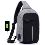 Anti-Theft Shoulder Bag with Charging Port