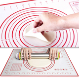 Baking Mat with Measurements This at can be ideal for kneading dough diameters, size markings and temperature conversions with stick-resistant silicone ovens oven off Non-Stick Measurements Mat's foody foods foodie food grade food cooking tools cookies cookie cookery cook cakes cake Bakeware Baker bakeoff Baked bake