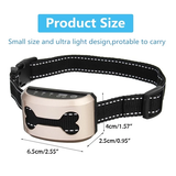 Bark Control Dog Collar Designed to distract your dog with gentle vibration or ultrasonic sound deterrent when they bark waterproof vibration Vibrating vibrate Ultrasonic training trainer Train shocks shock Rechargeable pets pet owner electric dogs dog controls Controller controlled control collar's collar barks barking Anti-Bark