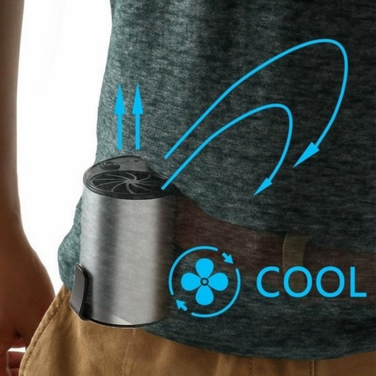 Belt Clip-on Air Cooler Cool yourself down anywhere mobile personal air cooler fan clip on to your belt, waistline Waist USB summer NEW mobile Miniature mini fan Men's mens men jeans hot fans fan cools Cooling coolers Cooler cool down Cool Conditioning Conditioners Conditioner clips clip-on Clip charging belts belt air-con air conditioning