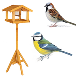 Bird Table With Feeder Give nature a home beautifully constructed Enjoy watching local wildlife in your own back garden wooden wood wild Tables squirrel sparrow seeds quaint nuts nut nature hardwood gardens gardening gardeners gardener blue tit birds birdhouses birdhouse bird watching Bird Bath animals