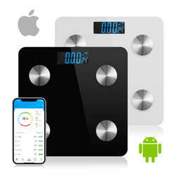 Bluetooth Bathroom Weight Scales Full health check. Smart body analysis technology measures weight, body fat percentage, body water, muscle mass weights weightloss Weighing weighin weigh scale iphones iPhone Glass Fat-Reducing fat burning fat Digital burn fat body control Body BMI Bluetooth baths bathrooms bath Apps App Android