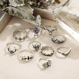 10pcs Bohemian Ring Set
