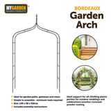 Bordeaux Garden Arch Ideal support for climbing plants, perfect for outdoor weddings and celebrations Strong Rose plants planting planters planter pathways pathway paths path Metal Heavy-Duty gardens gardening gardeners gardener decors Decorative decorating decorate decor climb archways archway arches