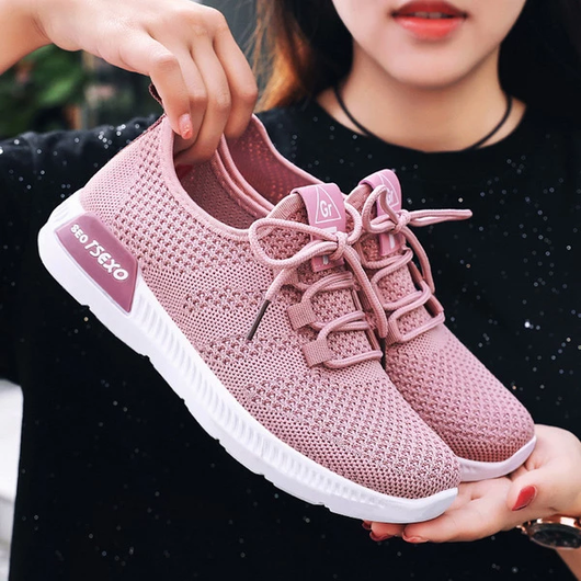 Pink Lightweight, breathable, supportive Airy mesh design keep your feet fresh Ideal for long walks and light exercise extra support sports activities Stylish and fashionable womens women womans woman Trainer's trainer Sportswear sports sport Sneakers sneaker shoes shoe Lady Ladies kicks girls girl feet