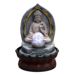 Buddha Light Up Water Feature Make a wonderful decorative feature in your indoor or outdoor space with this buddha light up water feature waters water unique tranquil Statue running resin outdoors outdoor Ornamental lights Home gift gardens gardener garden fountains Fountain feature Decoration's decoration carved calm
