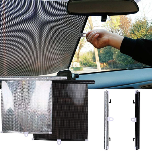 Car Window Sun Shade Keep your car cool Features roller blind function Great for keeping children in the back seats shaded windshield Windscreen windows Window sunshine Sunshade sunny sunlight sun suction shades shade screens Screen Rollers roller PVC Protectors protector motorway kids Interior hot driving cars Car blinds Blind back AR