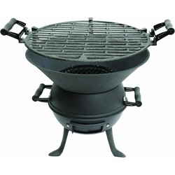 Cast Iron Barbecue and Fire Pit Fire bowl, grill and steel charcoal grid grill Easy to assemble UK Pits picnics Picnic outdoors outdoor-living outdoor activities outdoor iron grills grilling gardens garden parties fires cooks cooking cookers cooker cook caravans caravan camps camping Camper camp bbqs BBQ barbeques barbeque barbecues