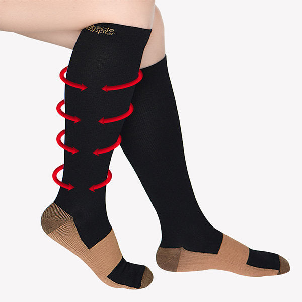 Camping & Hiking Practical Women Men Unisex Open Toe Knee Leg Relief Pain Support Socks Relief Therapeutic Anti-fatigue Outdoor Sport Compression Socks Good Heat Preservation