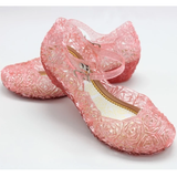 pink Crystal Princess Shoes Little Elsa fans sparkling beautiful gel complete any frozen outfit dressing up & character costume play women sparkle snowy snow princesses plays party olaf mum kids ice girls girl gift fun frozen2 frozen fancy dress elsa dresses dress-up dress disney crystal costumes cosplay clothing anna