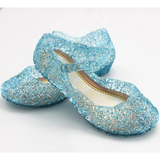 blue Crystal Princess Shoes Little Elsa fans sparkling beautiful gel complete any frozen outfit dressing up & character costume play women sparkle snowy snow princesses plays party olaf mum kids ice girls girl gift fun frozen2 frozen fancy dress elsa dresses dress-up dress disney crystal costumes cosplay clothing anna