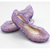 purple Crystal Princess Shoes Little Elsa fans sparkling beautiful gel complete any frozen outfit dressing up & character costume play women sparkle snowy snow princesses plays party olaf mum kids ice girls girl gift fun frozen2 frozen fancy dress elsa dresses dress-up dress disney crystal costumes cosplay clothing anna