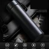 Digital Thermos Coffee Flask Features a waterproof LED display a capacity of 500ml waters water vacuums Vacuum thermostatically Thermometers thermometer Thermal temperature temp teas tea steel stainless smart mugs mug LCD display hot flasks Displays display custom cups cup coffees bottles bottle