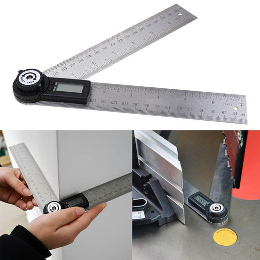 Digital Angle Rule wood tools toolbox tidy steel stainless steel stainless ruler rule proffesional metal measurement material handywoman handyman DIY Digital Craft corner calibration Angle accurate accuracy