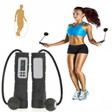 Digital Cordless Skipping Rope multi-functional LCD display calorie burn, timer function and jump counter skip shaped shape sensory Sensors Sensor running run ropes Rope Portable living lcd kcal jumps jumper healthy health gymwear gyms gymgear gym grip G-sensor fit Cordless cardio calories