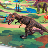 Dinosaur Play Set with Mat 9 hand-painted premium quality dinosaurs with 5 trees with Toy's toy sets set Realistic playset plays playmat's playmat playing Play Set play mat play mats kids kid girls girl Figures educational toys educational toy dinosaurs dinosaur dino creative play childs childrens Children child boys boy