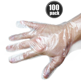 100-Pack of Disposable Clear Gloves
