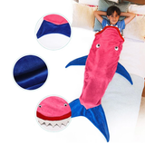 Shark Tail Blanket pretend have been eaten by a shark, quirky gift warm and cosy warmth warm tails Tail Soft Sofa sleeping sleep sharks mermaids Mermaid kids girls girl gift fun Flannel Costumes costume Children child boys boy blankets Blanket bags Bag