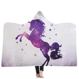 purple stars Unicorn Hooded Blanket warm and cosy winter nights the ideal Christmas present for children warmth warm Unicorns throw fleece Sofa Plush kids hoody hoodies Hoodie hooded hood Gift Fluffy fleece christmas childs childrens Children child blankets Blanket Adults