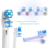 Double Oral B Compatible Electric Toothbrush Heads professional clean keep teeth & gums in top condition white travel toothpaste toothbrushes tooth tongue teeth sparkling plaque healthy health Head gift electrical dentist dental deep colgate cleans cleaning brushing brushes brush braun bathroom B aquafresh