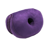 purple Dual Memory Foam Hip Cushion comfort hip cushion The double doughnut shape fits your body perfectly relieving sciatica pains, easing pregnancy discomfort toggle tailbone supports supportive support stress strains spine soft sitting relief pressure pregnant plush pain relief memory material Home hips hip gift foam discomfort correct chair